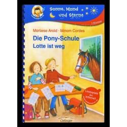 Ein Bild von dem Buch Die Pony-Schule Lotte ist weg. Band 1