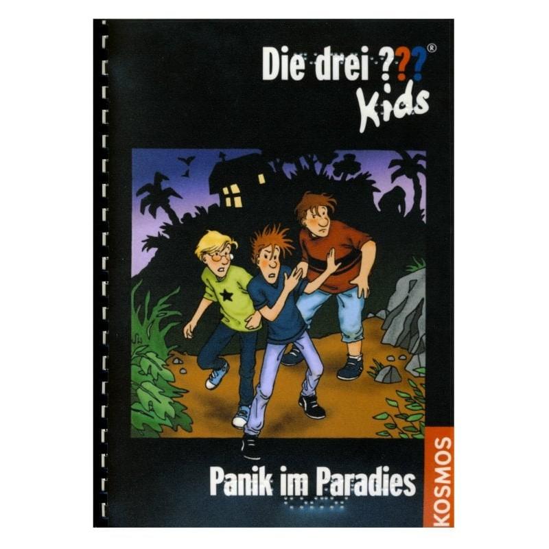 Ein Bild von dem Buch Die drei Fragezeichen Kids - Panik im Paradies. Band 1