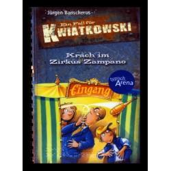 Ein Bild von dem Buch Ein Fall für Kwiatkowski -  Krach im Zirkus Zampano. Band 4