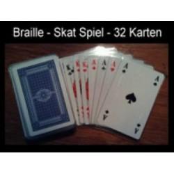 Ein Bild von dem Kartenspiel, Skatspiel mit 32 Karten französisches Deck
