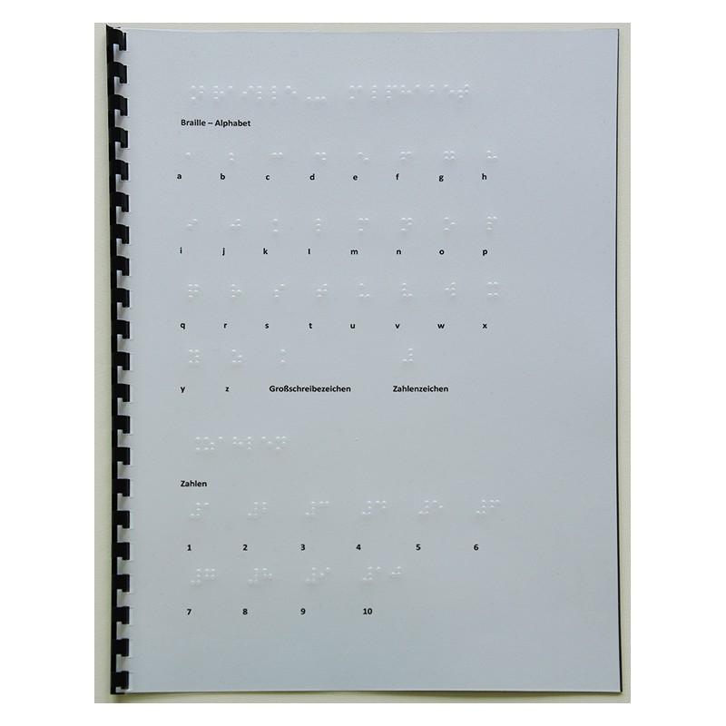 Ein Bild von dem 6 Punkt Braille Alphabet