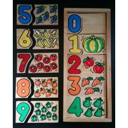 Haptisches Zahlenpuzzle,...