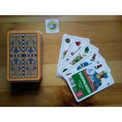 Ein Bild von dem Kartenspiel Doppelkopf, deutsches Blatt