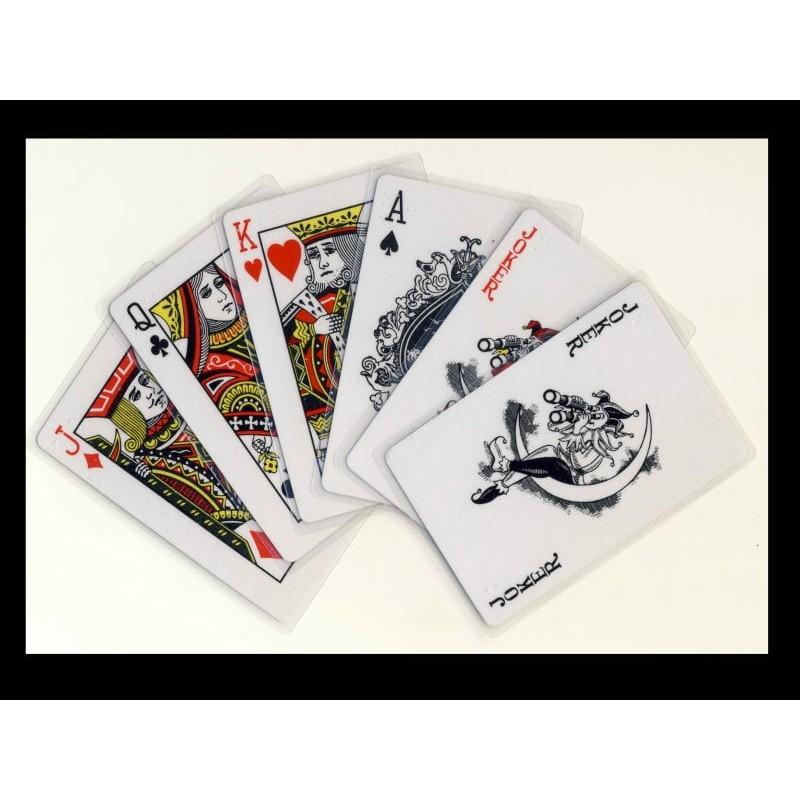 Ein Bild von dem Kartenspiel Poker Spieldeck mit Braillezeichen