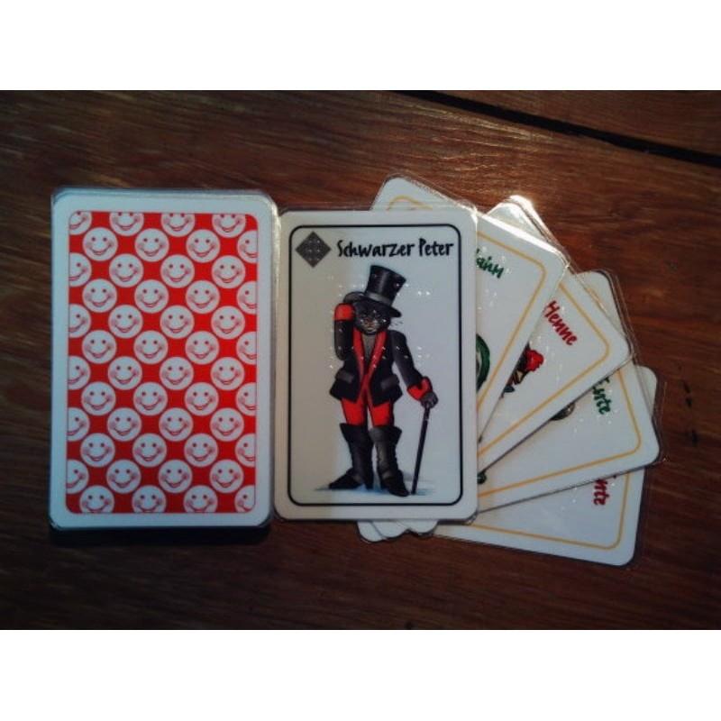 Ein Bild von dem Kartenspiel Schwarzer Peter Kartendeck