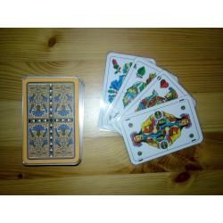 Ein Bild von dem Kartenspiel Skatspiel mit deutschem Blatt